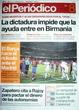 Portada diario Periodico de Catalunya del día 8/5/2008