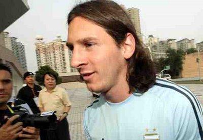 Foto de Messi en Pekin