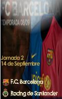 Foto de Cartel Partido F.C. Barcelona