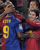 Foto de El Barça gana al Depor y llega a los 50 puntos en la primera vuelta