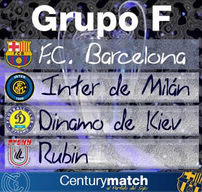 cartel fase de grupos de F.C. Barcelona de la UEFA Champions League 2009