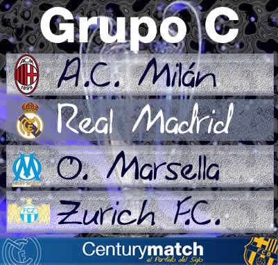 cartel fase de grupos de Real Madrid de la UEFA Champions League 2009