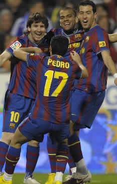 Foto de El Barcelona y Leo Messi vencen 2-4 al Zaragoza
