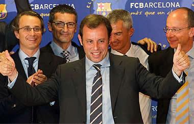 Foto de Sandro Rosell nuevo presidente del F.C. Barcelon