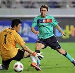 Foto de El FC Barcelona vence 2-5 a las estrellas coreanas en el debut de Messi
