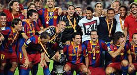 Foto de El F.C. Barcelona Supercampeón de España al golear 4-0 al Sevilla