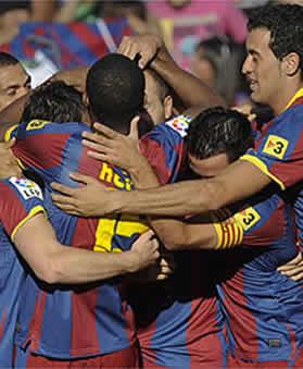 Foto de El F.C. Barcelona vence 0-3 al Racing