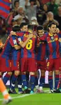 Foto de El F.C. Barcelona vence al Sporting