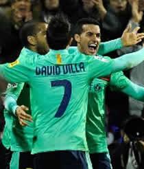 Foto de El F.C. Barcelona vence 0-3 al Hércules