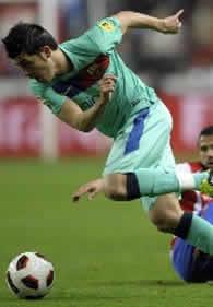 Foto de El F.C. Barcelona pincha y sólo consigue empatar 1-1 con el Sporting en Gijón