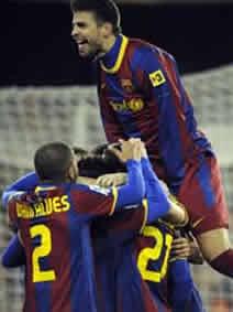 Foto de El F.C. Barcelona vence 0-1 al Valencia