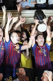Foto de El F.C. Barcelona supercampeón de Europa