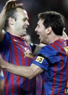 Foto de El F.C. Barcelona vence 3-0 al Racing