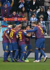 Foto de El F.C. Barcelona golea 1-4 en Málaga