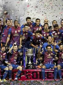Foto de El F.C. Barcelona se hace con la Copa venciendo 0-3 al Athletic