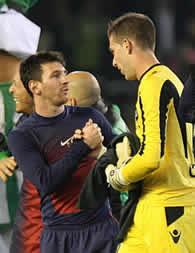 Foto de El F.C. Barcelona vence 1-2 al Real Betis con record de Messi