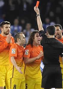 Foto de Primera derrota en Liga del F.C. Barcelona cayendo 3-2 ante la Real