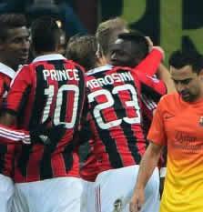 Foto de El F.C. Barcelona cae 2-0 ante el Milan