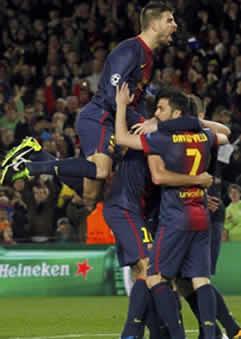 Foto de El Barça a cuartos tras vencer 4-0 al Milan
