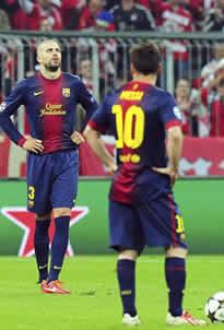 Foto de El Barça goleado 4-0 por el Bayern en semis de Champions