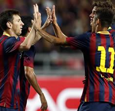 Foto de Goleada del F.C. Barcelona 1-7 ante el combinado tailandés