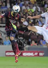 Foto de El F.C. Barcelona vence con muchos apuros 3-2 al Sevilla