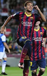 Foto de El F.C. Barcelona vence 4-1 a la Real con un gran juego