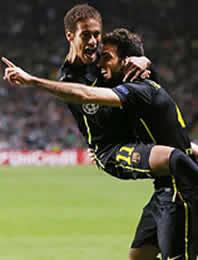 Foto de El F.C. Barcelona vence0-1 al Celtic en Glasgow