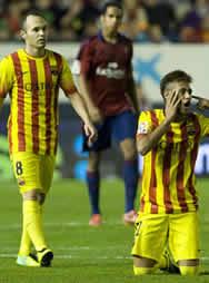 Foto de El F.C. Barcelona empata sin goles ante Osasuna