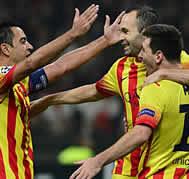 Foto de El F.C. Barcelona empata en Milan