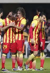 Foto de El F.C. Barcelona sentencia 1-4 con el Cartagena su eliminatoria de Copa