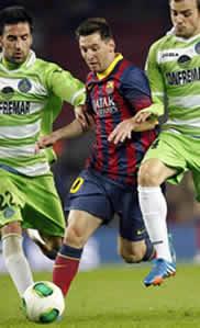 Foto de El Barça y Messi vencen 4-0 al Geta en Copa