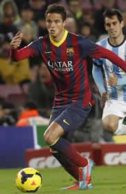 Foto de El F.C. Barcelona vence 3-0 al Málaga y mantiene el liderato