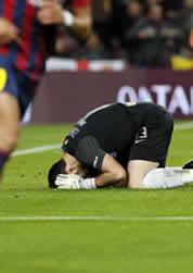 Foto de 2-0 del Barcelona en la ida de la Copa ante la Real