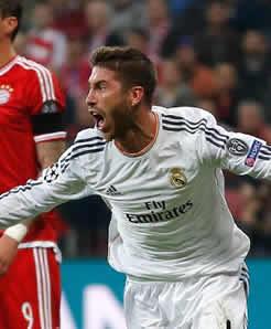 Foto de El Real Madrid en la Final de Lisboa al golear 0-4 al Bayern