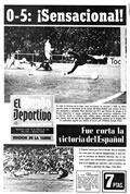 Portada diario M.Deportivo del día 18/2/1974