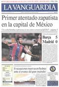 Portada diario La Vanguardia del día 9/1/1994