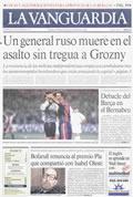 Portada diario La Vanguardia del día 8/1/1995