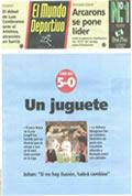 Portada diario M.Deportivo del día 8/1/1995