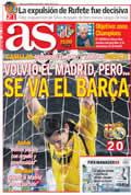 Portada diario As del día 14/12/2008