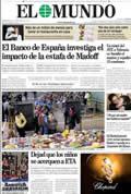 Portada diario El Mundo del día 14/12/2008