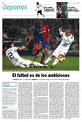 Portada diario El País del día 14/12/2008