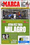Portada diario Marca del día 14/12/2008