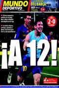 Portada diario M.Deportivo del día 14/12/2008