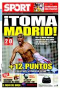 Portada diario Sport del día 14/12/2008