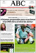 Portada diario ABC del día 3/5/2009