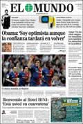 Portada diario El Mundo del día 3/5/2009