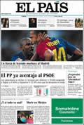 Portada diario El País del día 3/5/2009