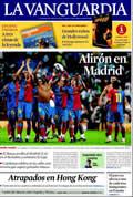 Portada diario La Vanguardia del día 3/5/2009