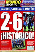 Portada diario M.Deportivo del día 3/5/2009